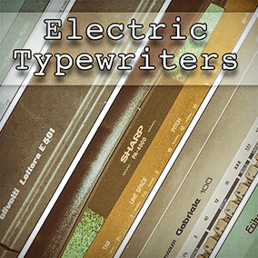 "The ""Electric Typewriters"" Sound Effects Library is a composite collection of 4 and half (yes half, one machine was broken) (old) electric Typewriters."