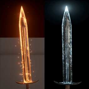 Pack contains materials with particle systems to make your weapons truly unique and interesting.