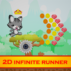 The 2D Infinite Runner Kit is the ultimate, easy to use framework for creating endless runner type of games in 2D!  It is blueprint based and has a number of features like enemies, hp/dmg system, rewards, local save data, score, loop-able environment etc.