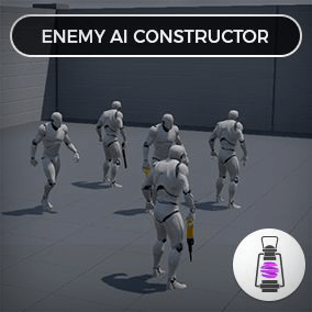Enemy AI Constructor is highly customizable blueprint system which allows you to create enemies for your single player games.