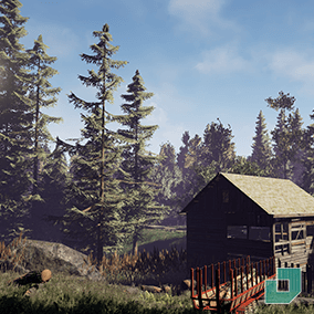 60 European Forest Assets, including ground plants, photoscanned trees, and a modular barn