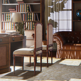 This is a furniture resource bundle, it can help you to quickly build interior scenes in the gorgeous modern European furniture style.