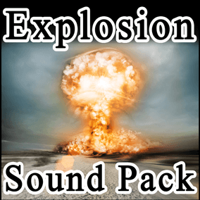 Explosion Sound Pack contains 37 high quality, professionally designed explosion sounds.