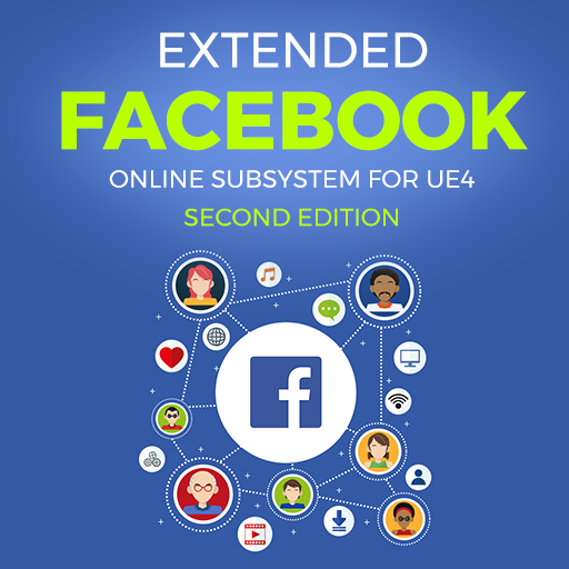 Extended Facebook Online Subsystem plugin integrates Facebook social network for all platforms. It implements Online Subsystem so you can use available features exposed by this and/or special functions and Blueprint nodes designed only for Facebook.