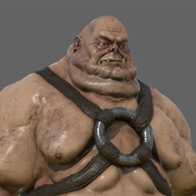 Here is a humongous fat ogre, ready to defeat your hero character in your heroic fantasy project.