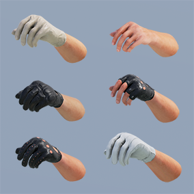 Photorealistic FP Hands w/ 4K textures, LODs, fully rigged/animated.  61 assets total!