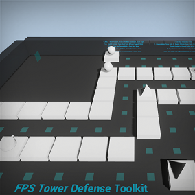 The FPS Tower Defense Toolkit provides the basic tools required to create a First Person Shooter/Tower Defense hybrid game. It is a pure blueprint toolkit and can be used for fast prototyping of FPS Tower Defense games.