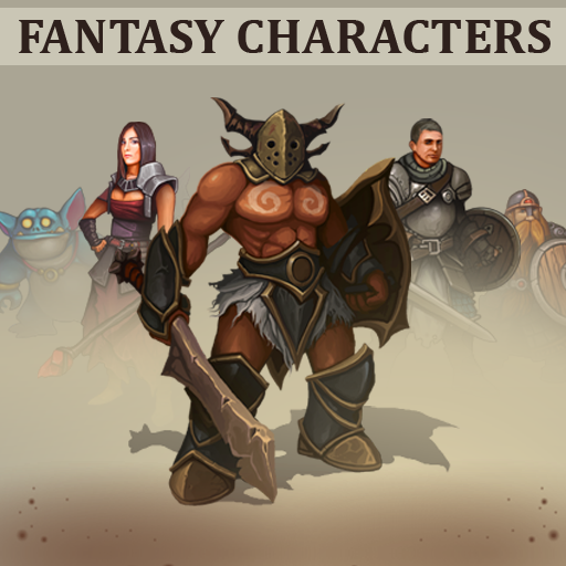 This set includes 51 Fantasy characters with backgrounds.