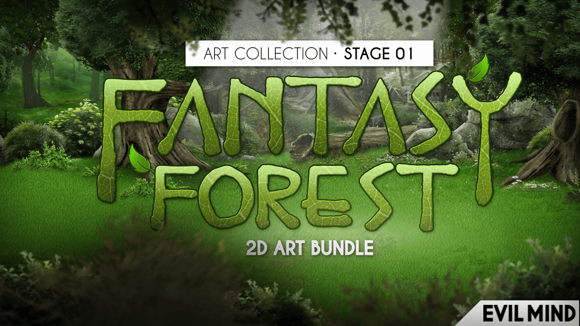 Fantasy Forest 2D Art Bundle by Evil Mind in 2D Assets - UE4