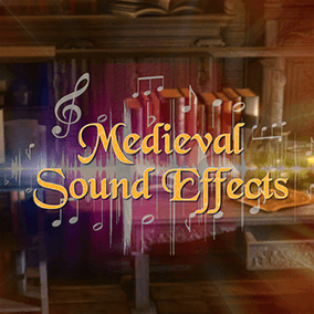 There are 119 sounds for almost each area of your game.  This sound fx pack fits very well to your medieval fantasy projects.