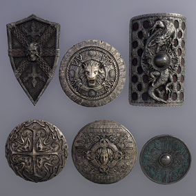 6 Fantasy War Shields for your next generation FPS/RPG games and projects.