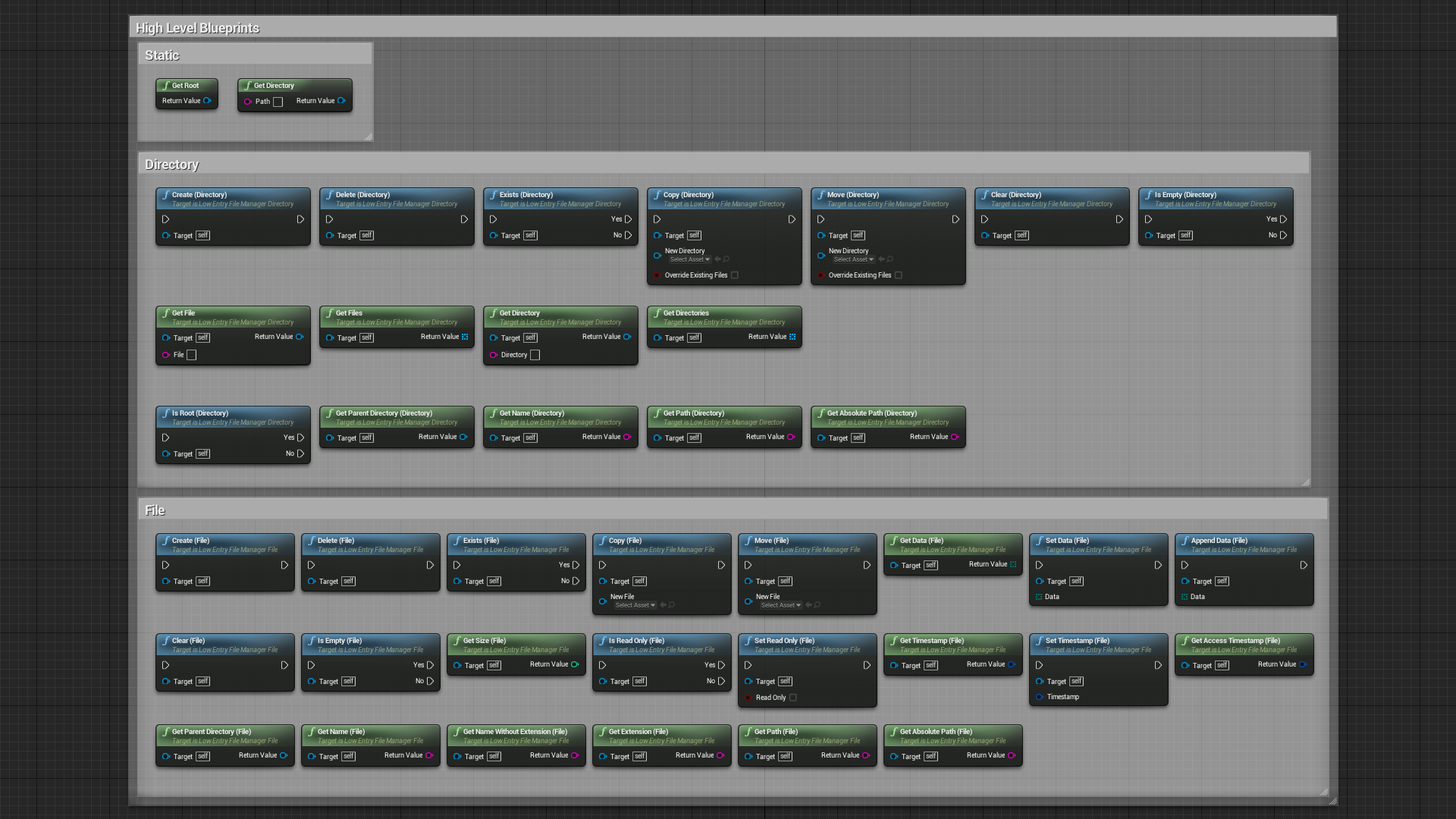 LE File Manager by Low Entry in Code Plugins - UE4 Marketplace