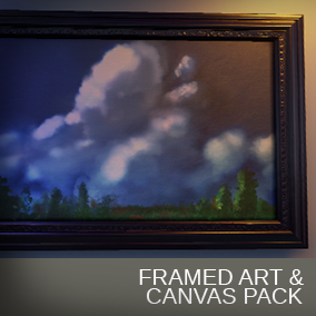 Customizable frames & art assets made to breathe life in to your game or archvis interior!