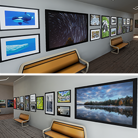 A variety of 40 high quality framed photographs perfect for dressing the walls and environments of your Game Project or Architectural Visualization.
