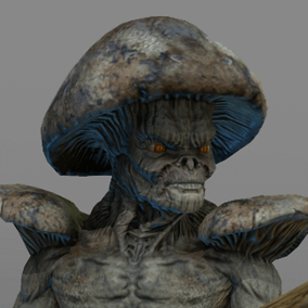 Here is fungoid, a cadaver whose flesh have slowly been replaced by mold and mushrooms.