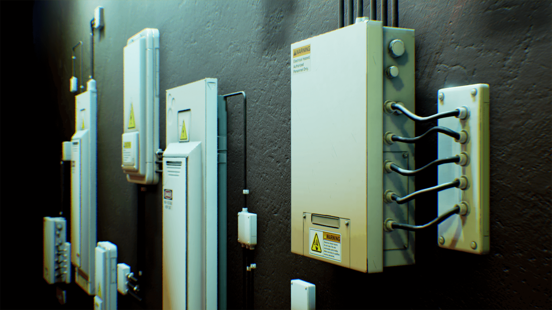 electrical fuse boxes and wires pack by matima studio in props - ue4  marketplace