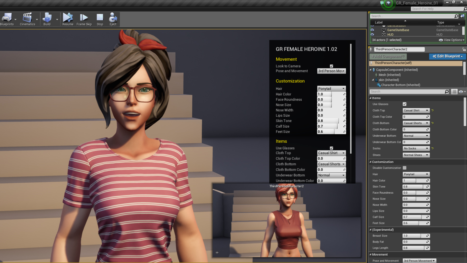 gr customizable female 01 by gustavo rios in characters ue4