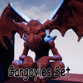 5 bodys + 5 Heads +5 Wings = 125 custom gargoyles