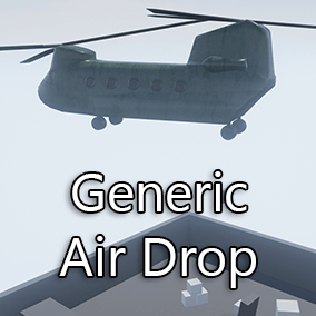 Generic Air Drop is system with provided example on how to drop an actor of your choosing from the air!