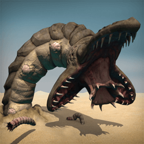 This giant worm will let you set up a really epic battle as a boss fight.