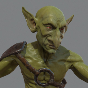Here is an awesome goblin ready to populate your heroic fantasy project.