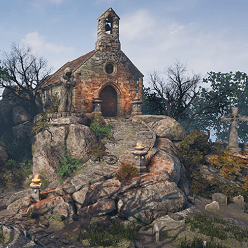 This pack contains huge amount of modular PBR sculpted cemetery and environment nature assets that are high-quality models with LODs. Textures atlases are 2048x2048 up to 4096x4096. Pack contains 733 assets. Interiors are included now!