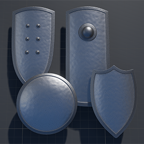 A collection of shields to go with my previously released weapons packs.