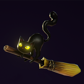 Set of spooky props for interactive Halloween wallpapers, special game editions