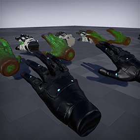 """Hands for VR: SciFi"" brings three science fiction hand models (Futuristic Gloves, Alien Hands, Mechanized Gloves) to Virtual Reality developers."