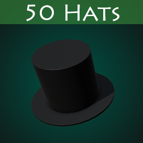 From classic top-hats to sci-fi helmets, this pack contains 50 hats, which will be a great addition to your game.