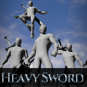 It's HeavySword Animation Set. It contains 22 animation. motion capture is boring! It has dynamic pose! You could check it out on YouTube.
