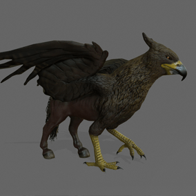 Here is the Hippogriff. This powerful mythological creature is a griffon's cousin: crossing between a horse and a giant eagle.