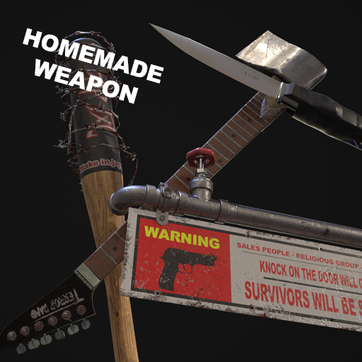Presenting a high quality homemade weapon pack, which include a high quality high density/ quality story telling PBR texture, and skeletal and static mesh is both include in the product.