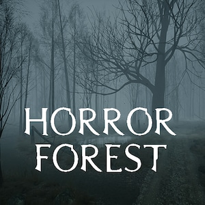 A dark, foggy forest with an eerie atmosphere. Perfect for horror games.