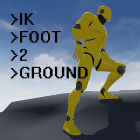 The plugin provides custom animation node that can adjust the vertical coordinate of a foot after applying animation, as well as the actor component that helps to adjust feet to irregular surface.