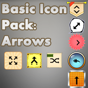 Basic, easy to use set of Arrow icons, useful for any project, with an accompanying 40 background images to choose from.