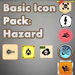 Basic, easy to use set of Hazard icons, useful for any project, with an accompanying 40 background images to choose from.