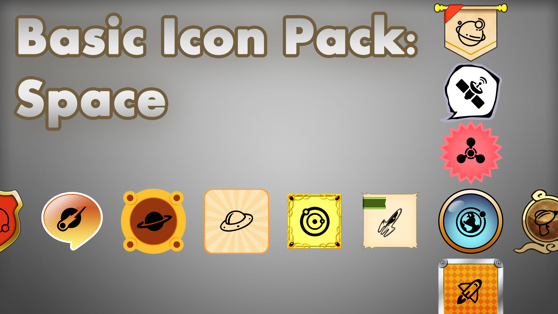 Icon Pack: Space by Knobbynobbes in 2D Assets - UE4 Marketplace