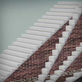 A procedural staircase Blueprint which lets you create detailed, highly customisable linear staircases.
