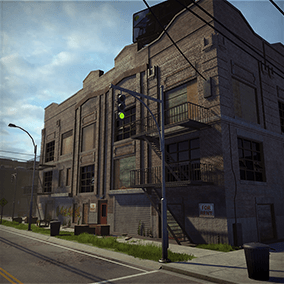 Industrial City is a high quality environment pack with over 300 assets to create an industrial city with full control of grunge.