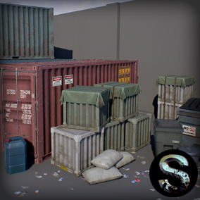 High quality props pack, for the creation industrial environment. Part 4