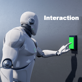 The different character of interaction with interactive objects.Weapons, doors, items, buttons...