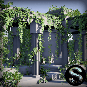 Pack High quality ivy and vine. It contains several meshes and fully customizable blueprints to create any ivy.