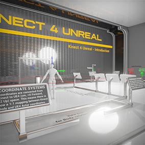 Kinect 4 Unreal enables the use of the Kinect 2 Sensor and the Kinect 4 Windows API.