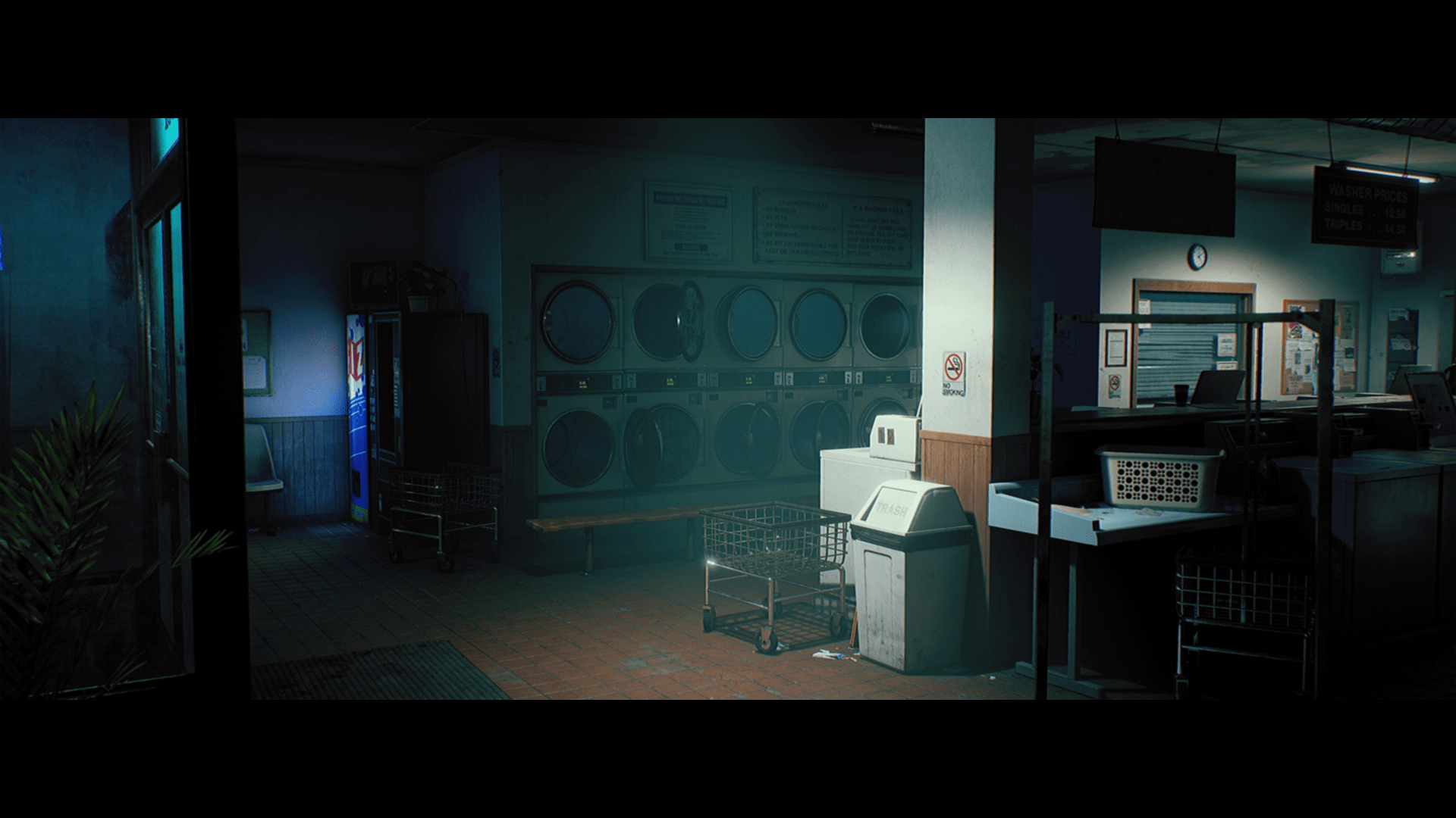 King Wash Laundromat City Scene By Dekogon Studios In