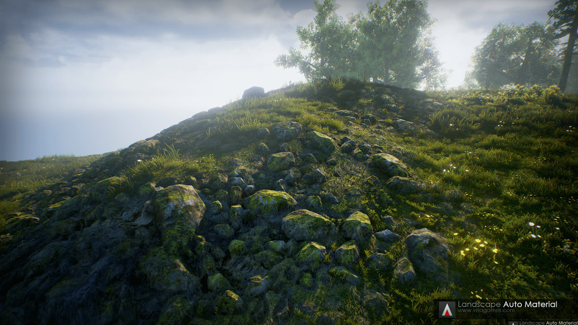 Landscape Auto Material by VEA GAMES in Environments - UE4
