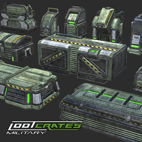 10 MILITARY LOOT CRATES Ideal for FPS games with PBR Substance Materials.