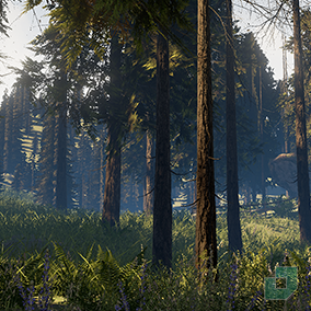 Low Poly Foliage Forest Pack containing 37 optimised trees, bushes, props and sound effects.