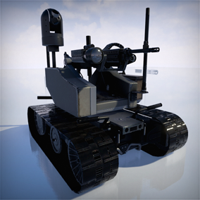 The Modular Advanced Armed Robotic System – MAARS. Military remote-controlled robot