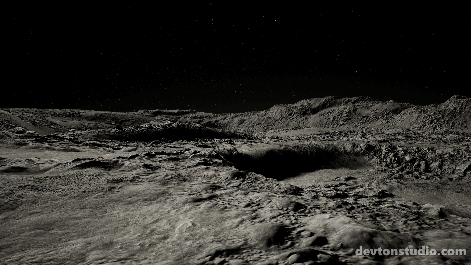 Moon Landscape By DevTon Studio In Environments